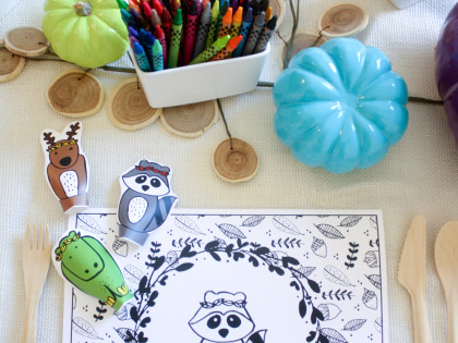 Fun Kid's Thanksgiving Table Ideas