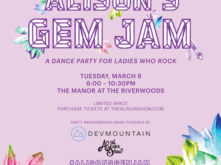 Alison's Gem Jam: Tickets on Sale!